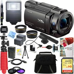 Sony FDR-AX33/B - 4K Camcorder with Mini Zoom Microphone + 6