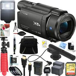 Sony FDR-AX53/B 4K Handycam Camcorder with Mini Zoom Microph