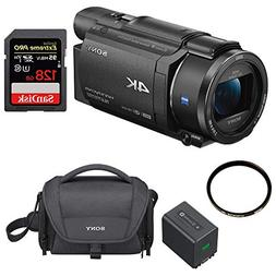 Sony FDRAX53/B 4K Camcorder  NP-FV70 Battery Bundle