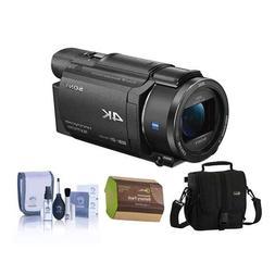 Sony FDR-AX53 4K Ultra HD Handycam Camcorder Bundle with Vid