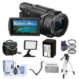 Sony FDR-AX53 4K Ultra HD Handycam Camcorder - Bundle with V