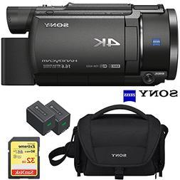 Sony FDR-AX53 4K Ultra HD Handycam Camcorder Video Recording
