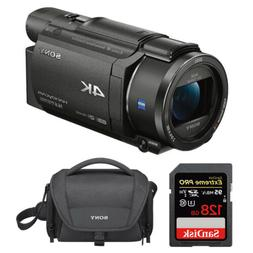 Sony FDRAX53/B 4K HD Video Recording Camcorder  Bundle