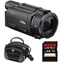 Sony FDRAX53/B 4K HD Video Recording Camcorder  Bundle