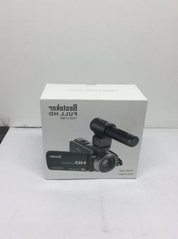 Besteker FHD 1080p Camcorder with External Microphone & Remo