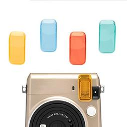Colored Filter Close-Up Lens,Hellohelio Fujifilm Instax Mini