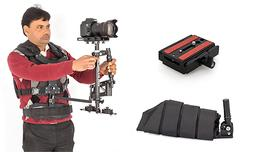 Flowcam 2000 DSLR Camera Steadicam w/ Vest,Arm Brace,Quick R