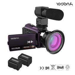 <font><b>Andoer</b></font> 4K 1080P 48MP WiFi Digital Video