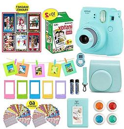 Fujifilm Instax Mini 9 Camera Bundle  + Instant Camera Film
