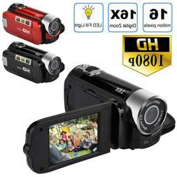 """FULL HD 1080P 16MP 2.7""""LCD 16X ZOOM Digital Video DV Camera"""