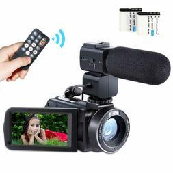 Besteker Full HD 1080P Camcorder Remote Control Camera 24MP