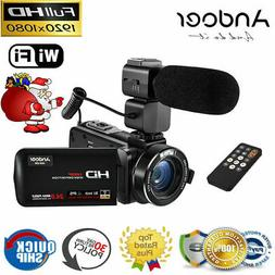 "Full HD 1080P WiFi Digital Zoom Video Camera Camcorder 3"" To"