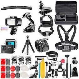 G0 Action Camera with 50 in 1 Kit and Underwater 20 Dimmable