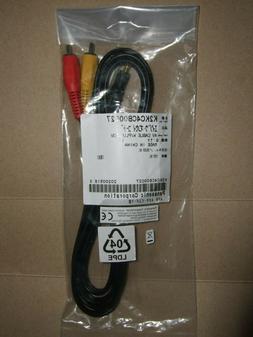 GENUINE PANASONIC CAMCORDER AV CABLE 3.5mm 3 RCA PLUG K2KC4C