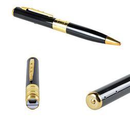 Gold Mini Spy Pen HD Video Recorder Hidden Pinhole Camera Ca