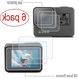 PCTC Tempered Glass Replacement Sport Camcorder Screen Prote