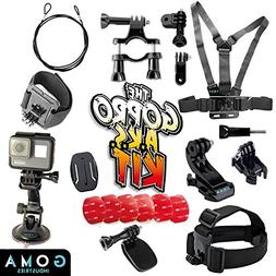 Best GoPro Helmet Mount Kit For Hero6, 5, 4 Session, Mounts