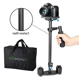 COOCHEER Handheld Stabilizer Carbon Fiber Video Camera Stead