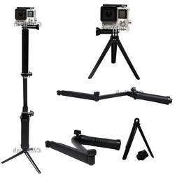 Handle Grip Arm 3Way Selfie Stick Tripod Mount Monopod For G