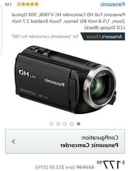 "Panasonic HC-V180 Camcorder Full HD 2.7"" Display - Black"