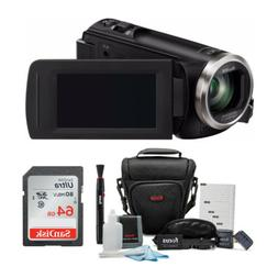 Panasonic HC-V180K Full HD 1080p Camcorder with 64GB Accesso