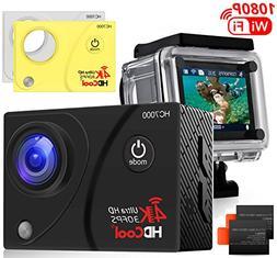 HDCool Action Camera 4K 170 Degree Waterproof Sports Camera