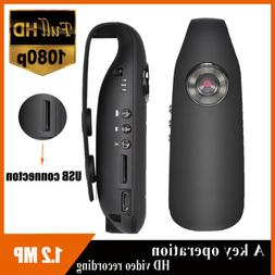 HD 1080P 130° Mini Camcorder Dash Cam Police Body Motorcycl