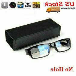 HD 1080P 30fps Spy Hidden Glasses No Hole DVR Camera Recorde