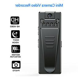 HD 1080P Mini Camera Police Body Bike Camcorder Loop Recordi