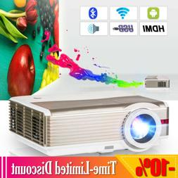 1080p Android WiFi Home Theater Projector Wireless Backyard