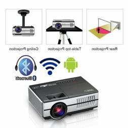 EUG HD Mini Smart Projector Android WiFi Bluetooth Home Thea