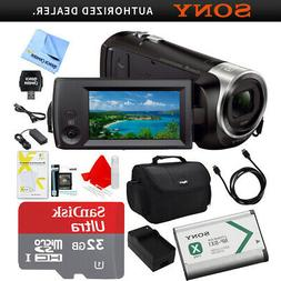 Sony HDR-CX405/B Camcorder Carrying Case 32GB HDMI NP-BX1 Ba