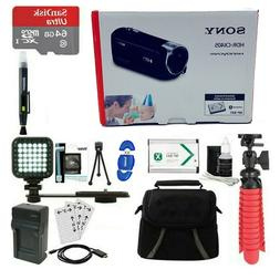 Sony HDR-CX405/B Full HD 60p Camcorder & 64GB MicroSD Access