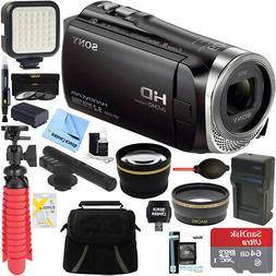 Sony HDR-CX455/B Full HD Camcorder + Mini Zoom Microphone &