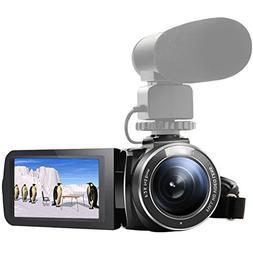 SEREE HDV-520 Camcorder WIFI External Microphone Jack Input