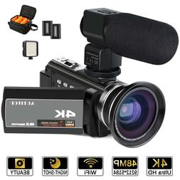 ACTITOP HDV-UHD-02 Video Camcorder, Video Camera 48MP UHD Wi