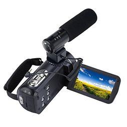 ORDRO HDV-Z82 10X Optical Zoom Hot Shoe Wifi 1080P Full HD D