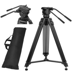 ZOMEI Heavy Duty DV Video Tripod Monopod with Fluid Pan Head