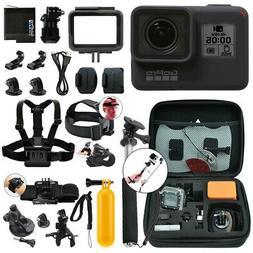 GoPro HERO7 Black 12 MP Waterproof 4K Camera Camcorder + Com