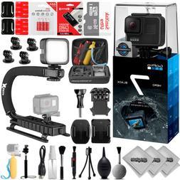 GoPro HERO7 Black 4K 12MP Digital Camcorder w/ 16GB - 23PC S