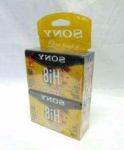 Sony Hi8 Camcorder 8mm Cassettes 120 Minute 4-Pack Discontin