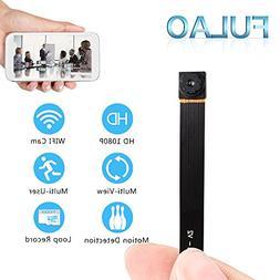 FULAO Mini Super Hidden Spy Wifi Cam 1080P HD Portable Nanny
