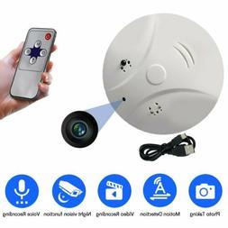 HD Camera Video Recorder Surveillance DVRs Spy Smoke Detecto