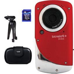 Vivitar ID640 HD Waterproof Pocket Video Camcorder - Red Acc