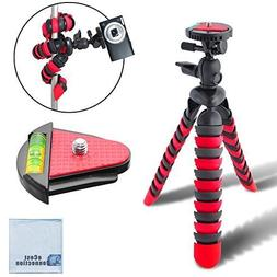"12"" Inch Flexible Tripod w/ Wrapable Legs. Quick Release Pla"