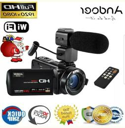 IPS HD WiFi 1080P 24MP Digital Video Camera DV Camcorder Wit