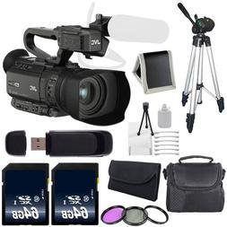 JVC GY-HM200 GYHM200 4KCAM Compact Handheld Camcorder  + 64G