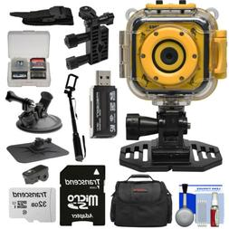 Precision Design K1 Kids HD Action Camera Camcorder  with He