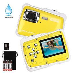 Kids Waterproof Digital Camera,DECOMEN Underwater Action Cam