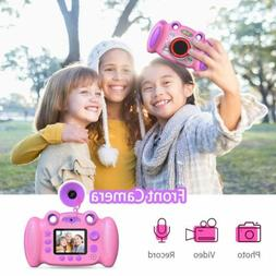 Kids Camera Gifts HD Front and Rear Selfie Toddler Camera  f